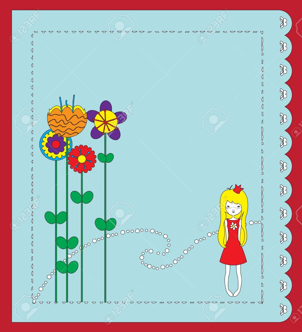 Illustration of retro design greeting card Stock Vector - 6798169