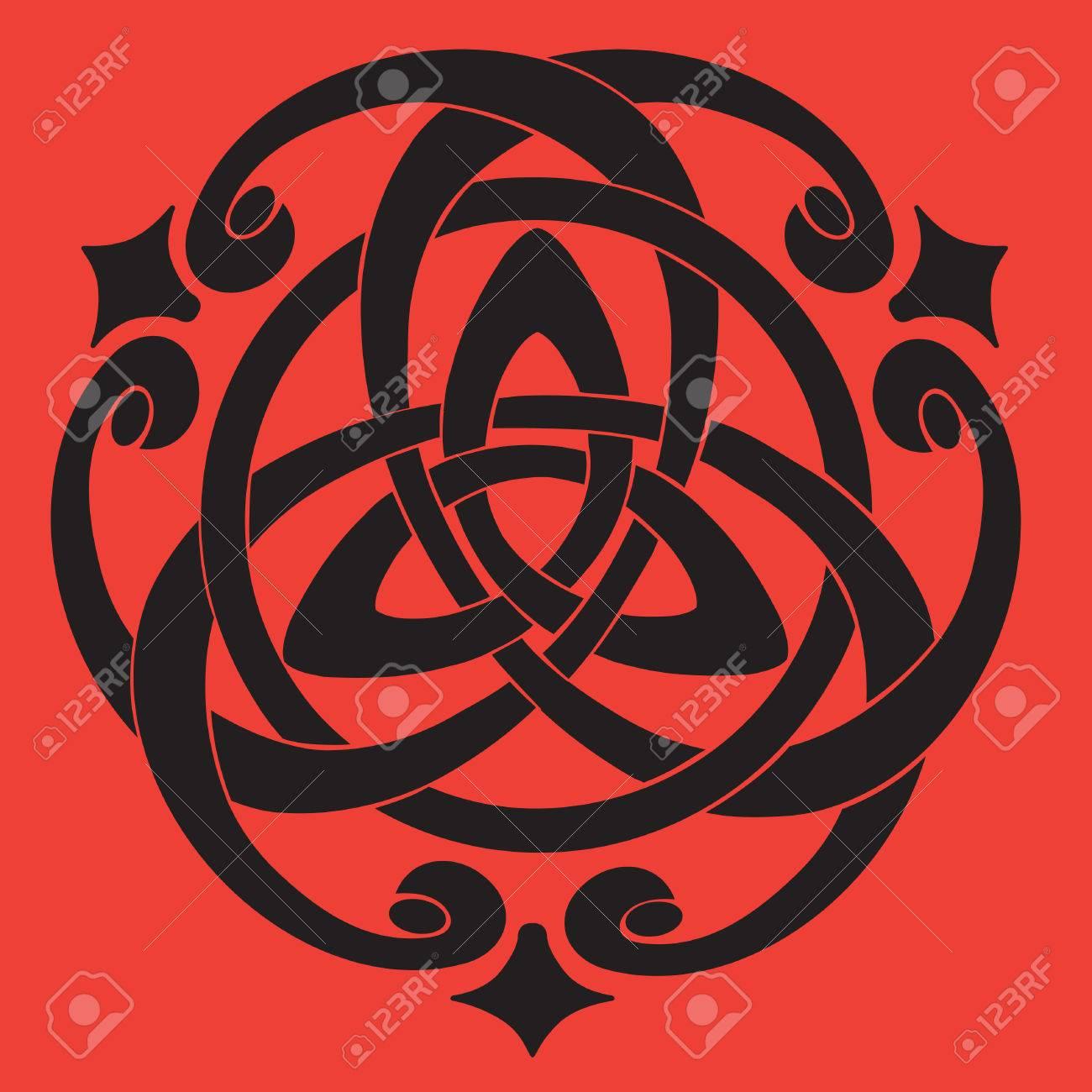 Vector Illustration of Celtic Knot Motif Stock Vector - 9036680