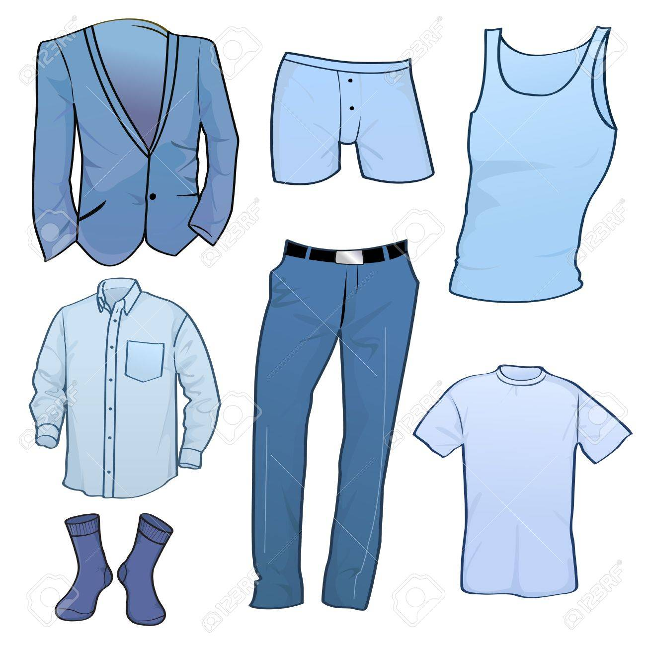 Vector illustration of cool Men clothes icon set Stock Vector - 9440425