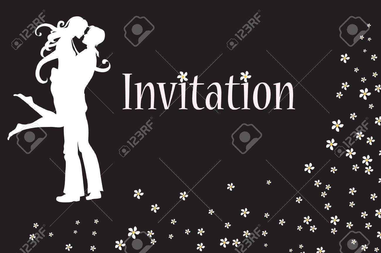 Vector illustration of funky invitation with cool young sexy couple Stock Vector - 9703802