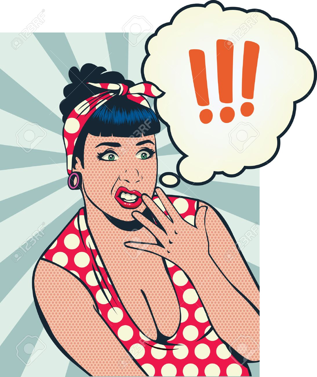 Grimace face clip art stock photo woman pulls a face in upset - Disgust Pin Up Girl Face Of Disgust