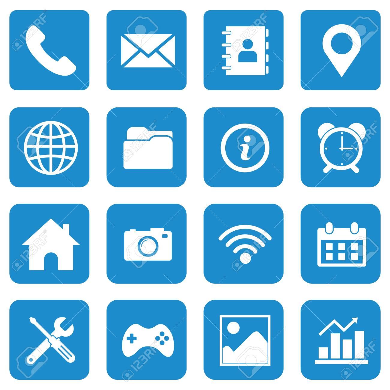web icon set vector design symbol - 140692674