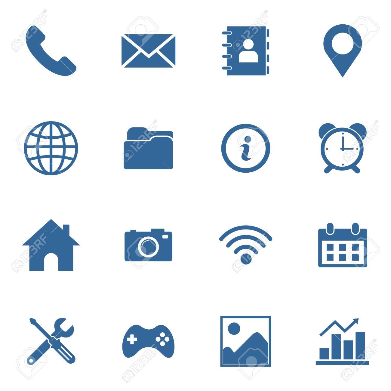 web icon set vector design symbol - 140694023