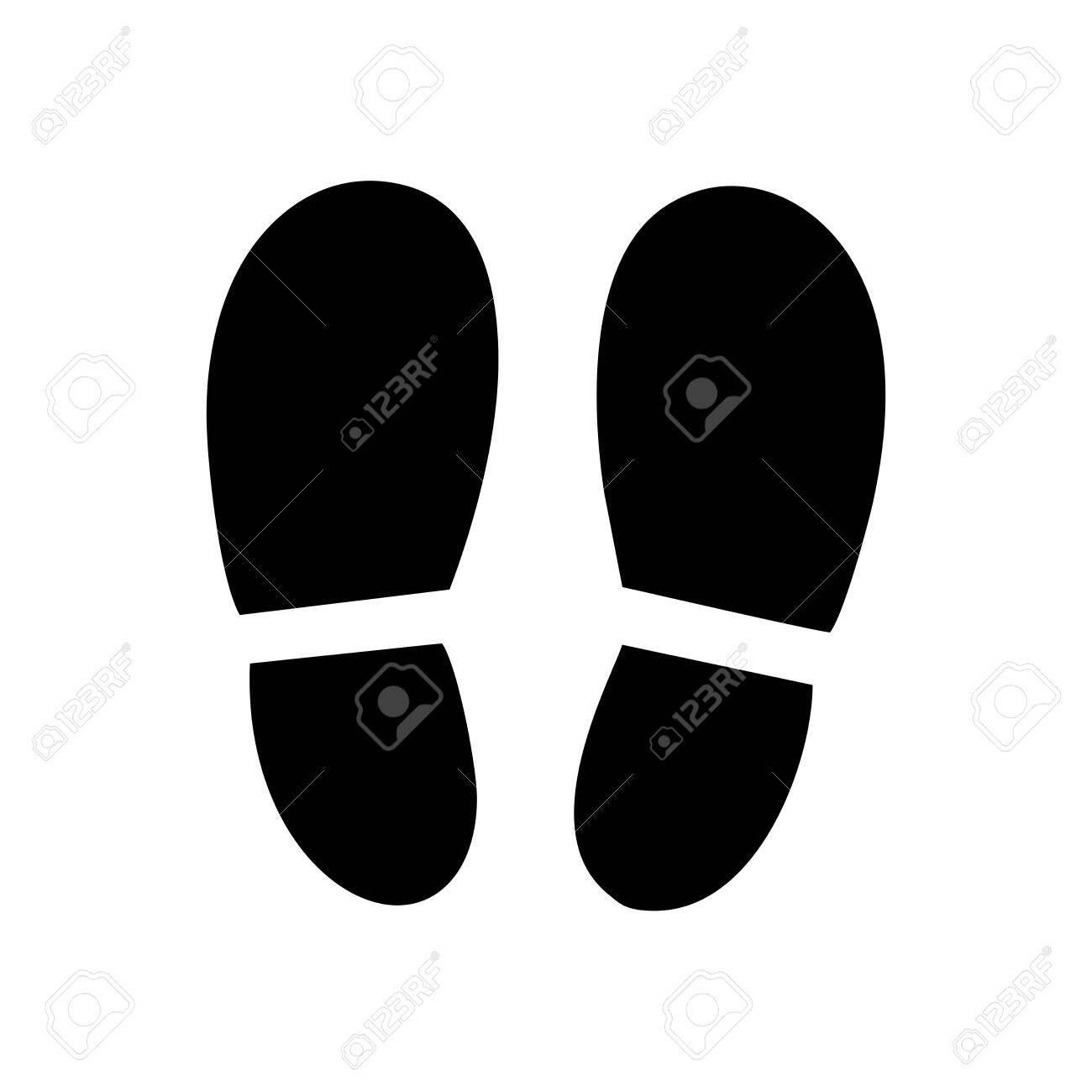 footprint icon vector design symbol - 141149354