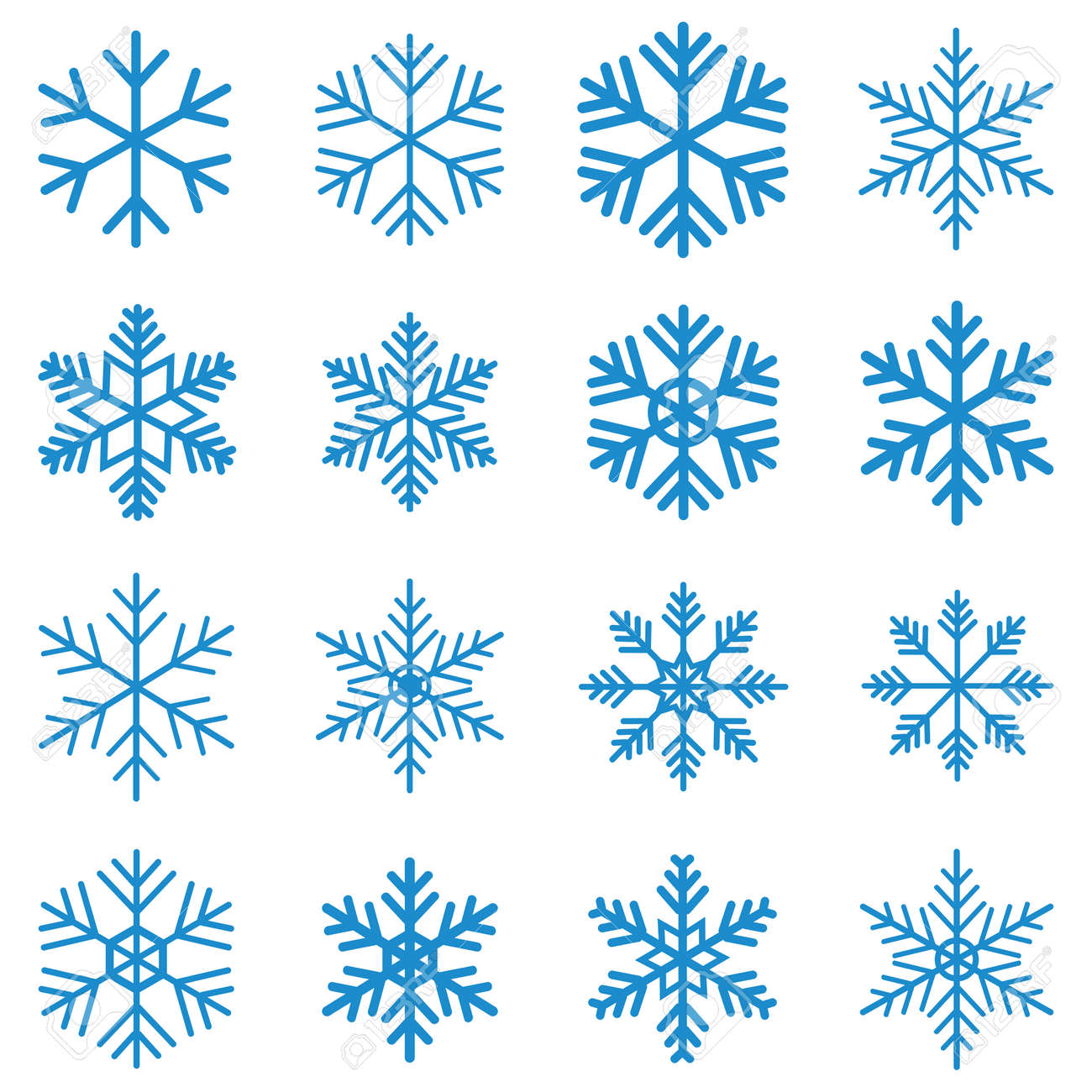 snowflake icon vector design symbol - 143132579
