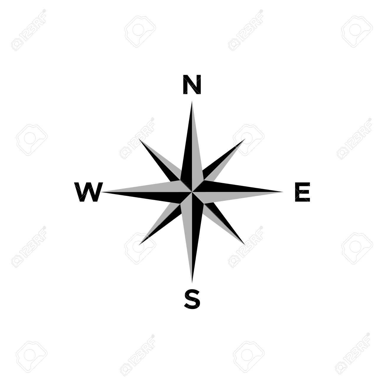 compass icon vector design symbol - 142765198