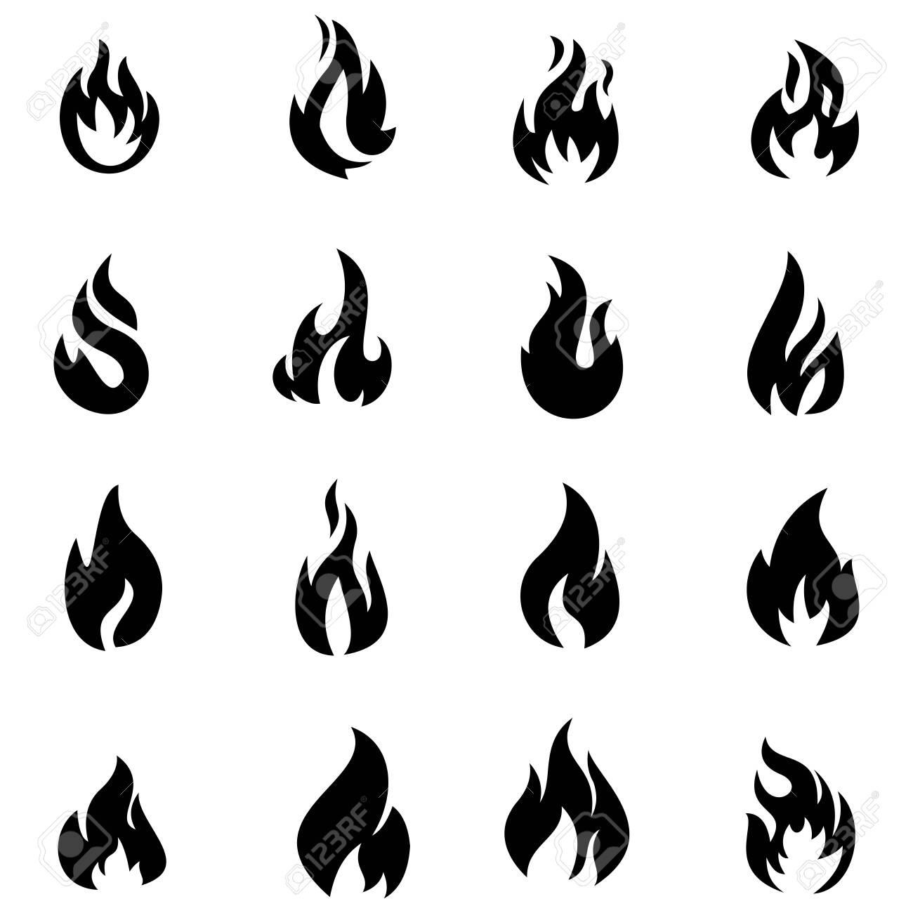 fire flame icon vector design symbol - 143639126