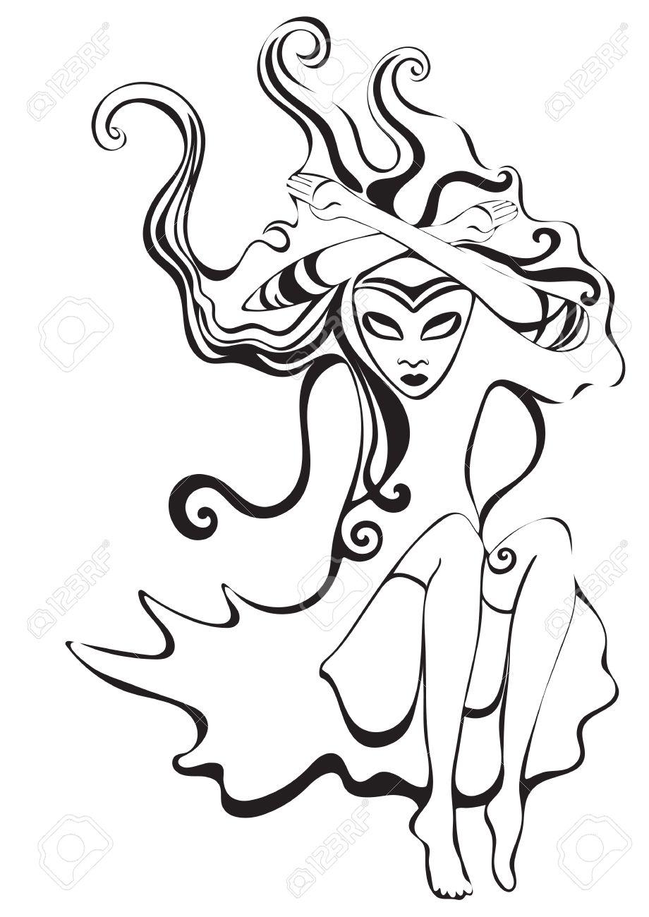 Reina De Espadas. Virgo Signo Del Zodiaco. Chica Psicodélico ...