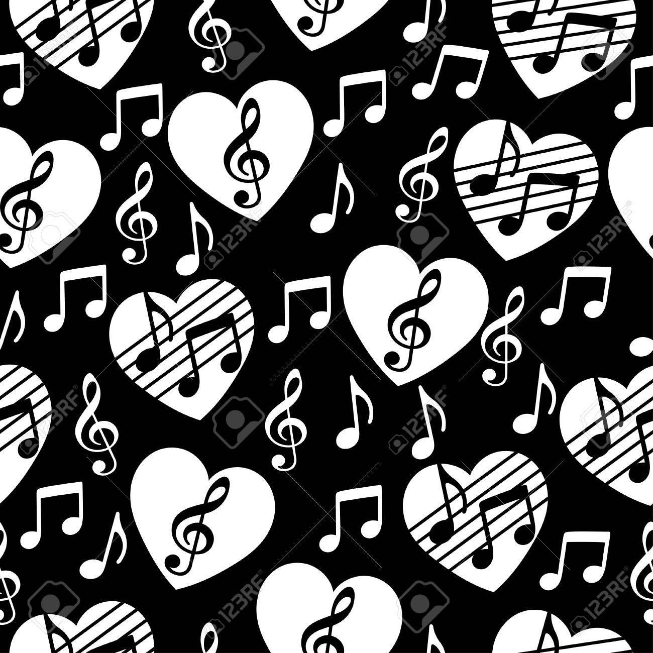 Vettoriale Amore Per La Musica Sfondo Vettoriale Musicale