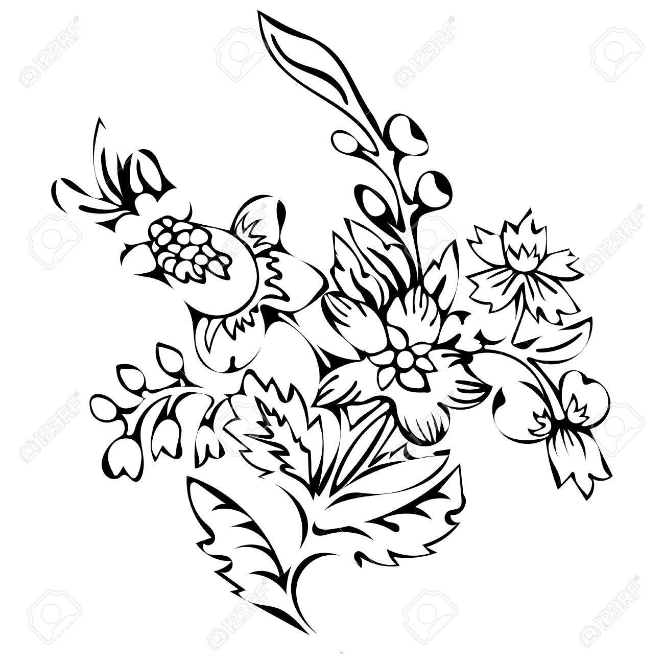 Hermosa Dibujos De Plantas Y Flores Para Colorear