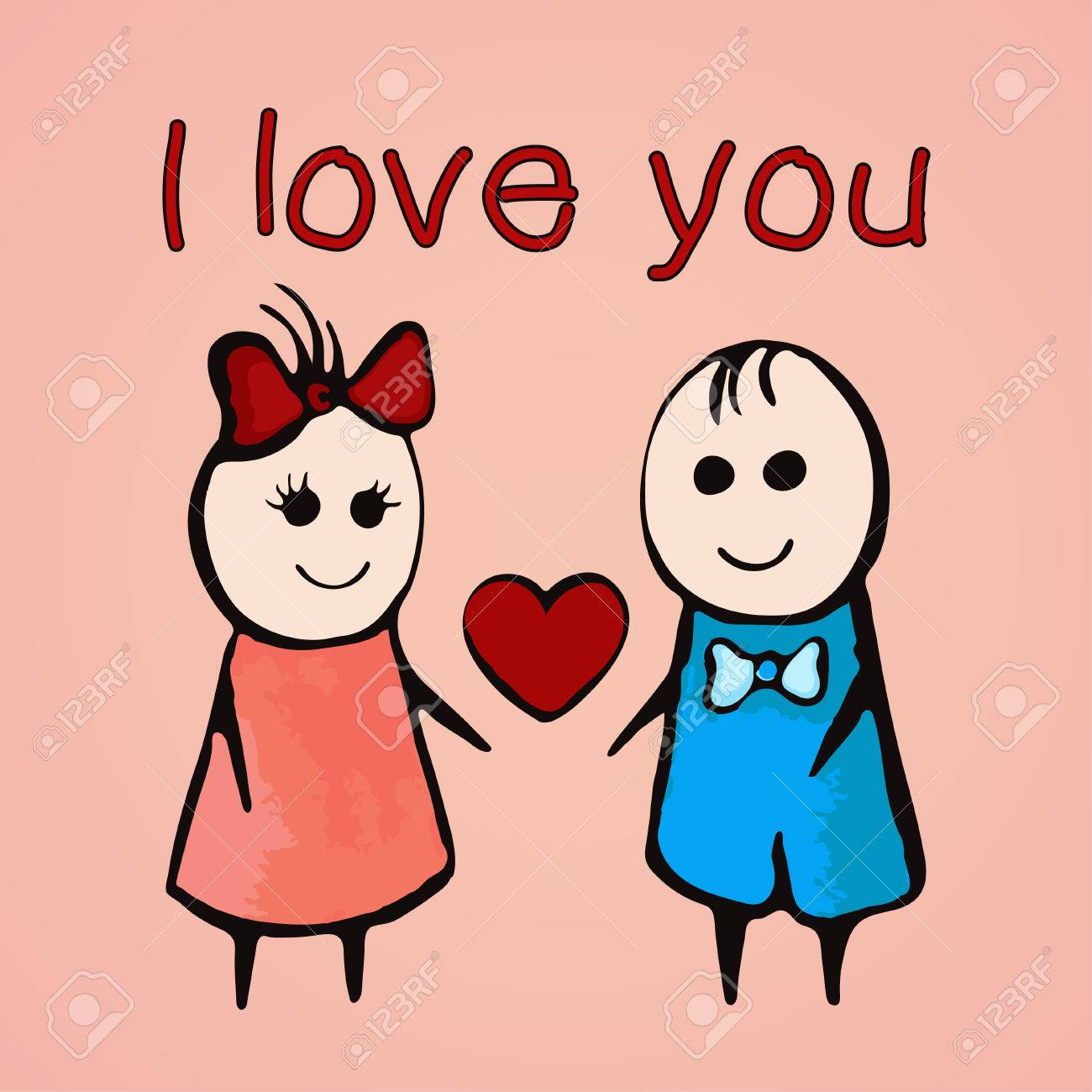Te Amo Tarjeta Para El 14 De Febrero Día De San Valentín Bandera