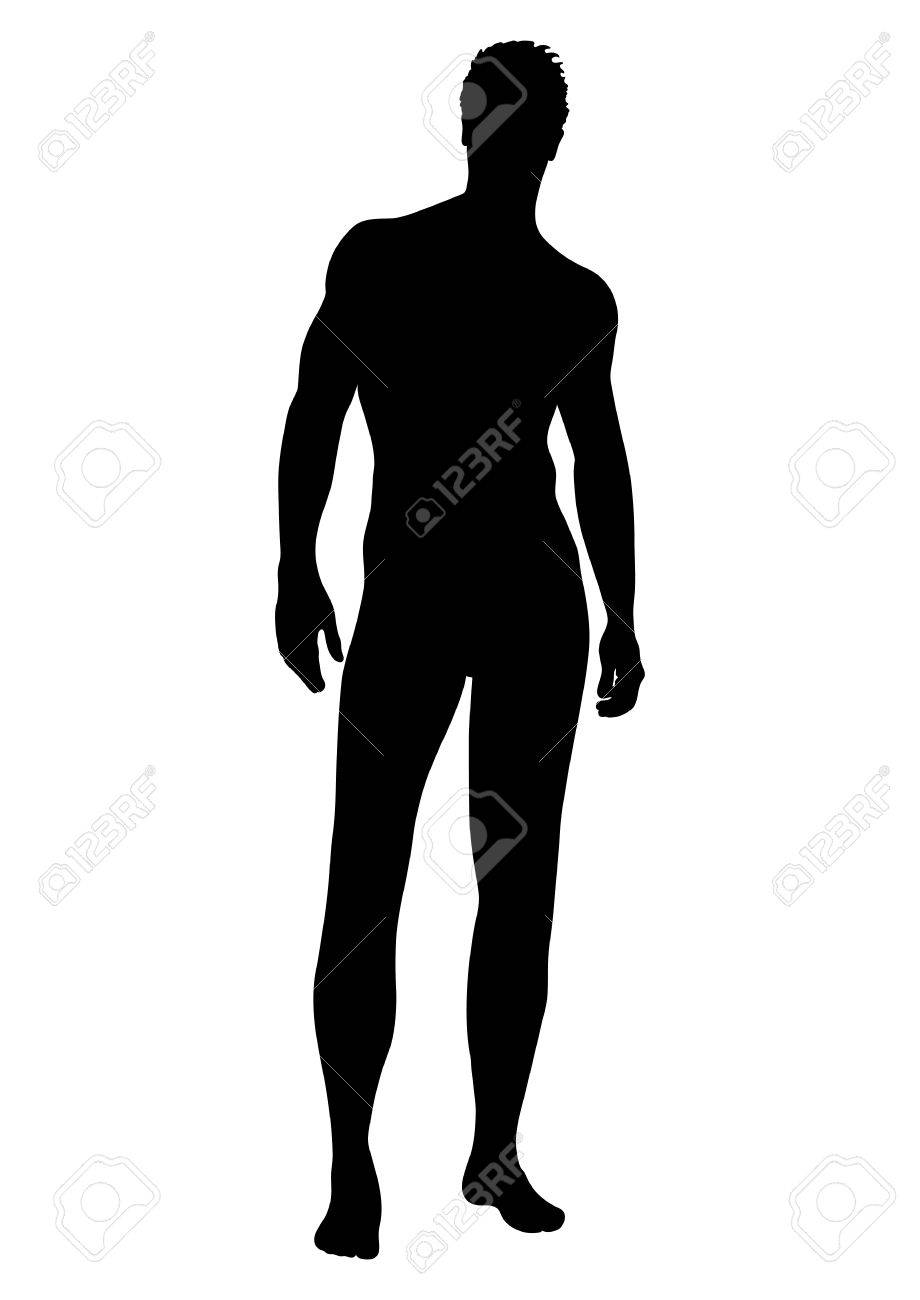 naked man vector silhouette contour human outline portrait stock rh 123rf com vector silhouette objects vector silhouettes free