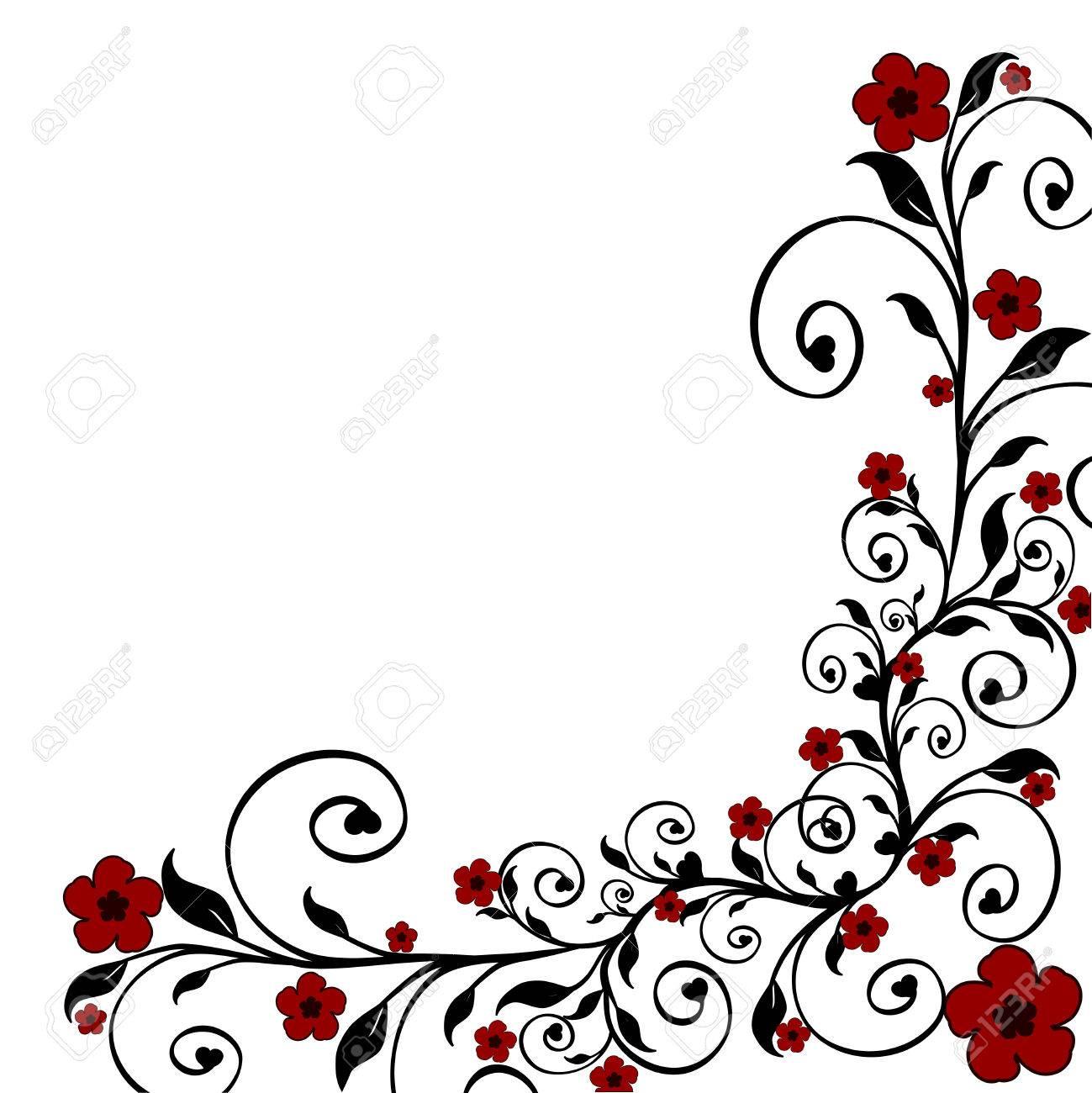 illustration of a floral ornament - 6672590