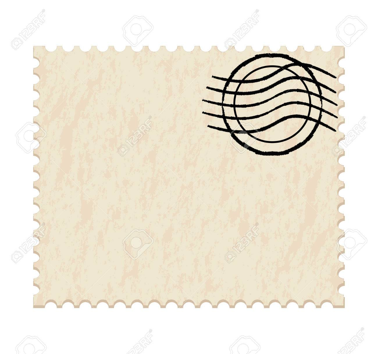 illustration of a  post stamp on white background Stock Vector - 7825774