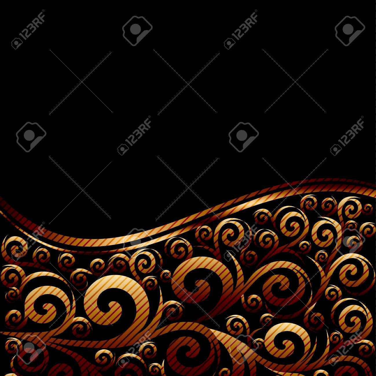 illustration of an abstract striped ornament with waves Stock Vector - 8483036