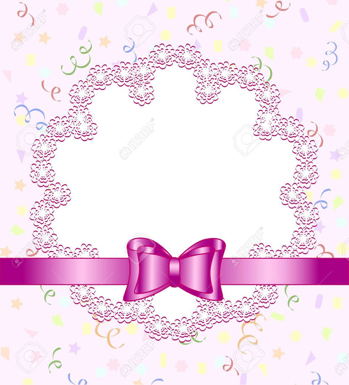 Vector illustration of a frame of flower with bow on birthday vector vector illustration of a frame of flower with bow on birthday theme background izmirmasajfo