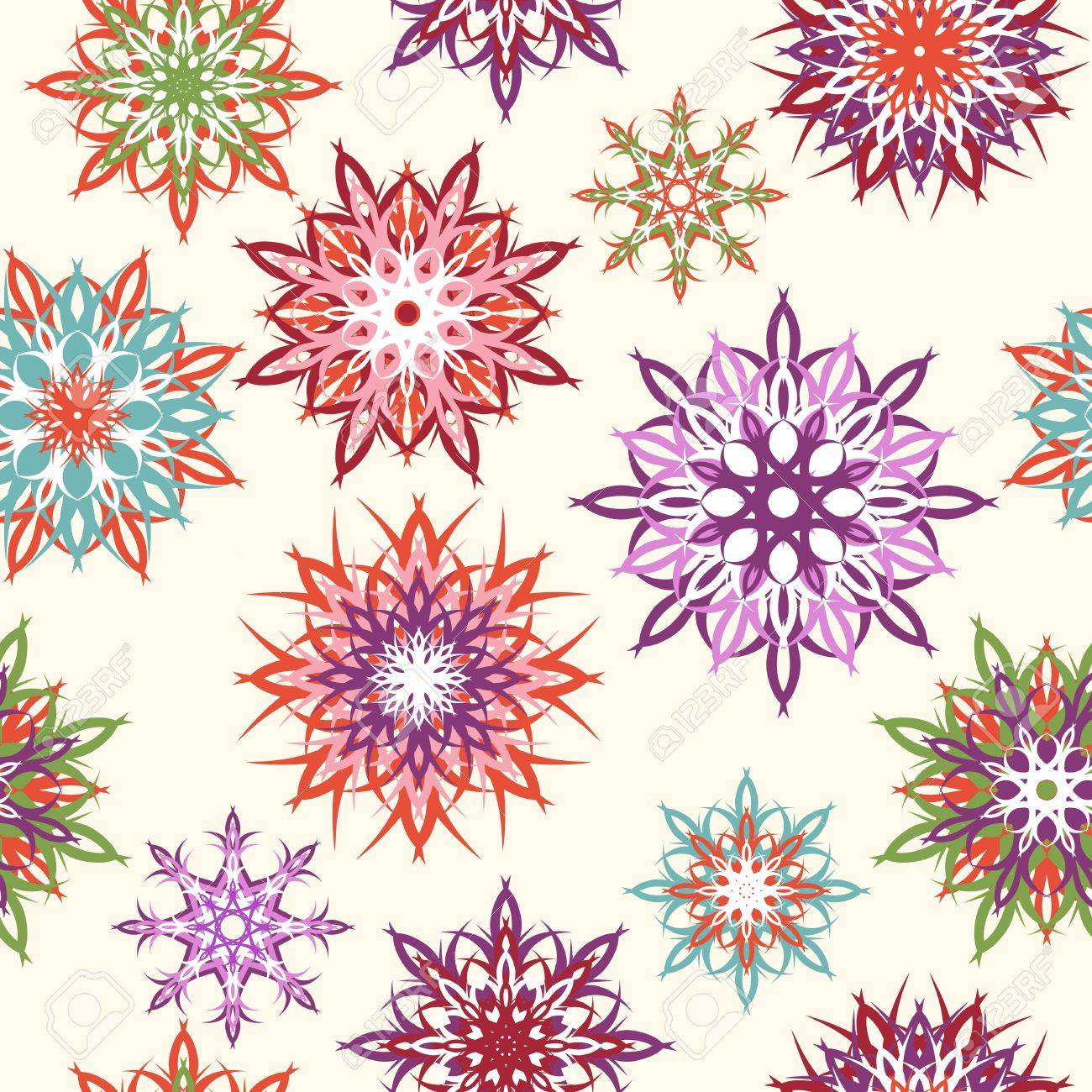 Vector illustration of a floral seamless pattern Stock Vector - 11479246