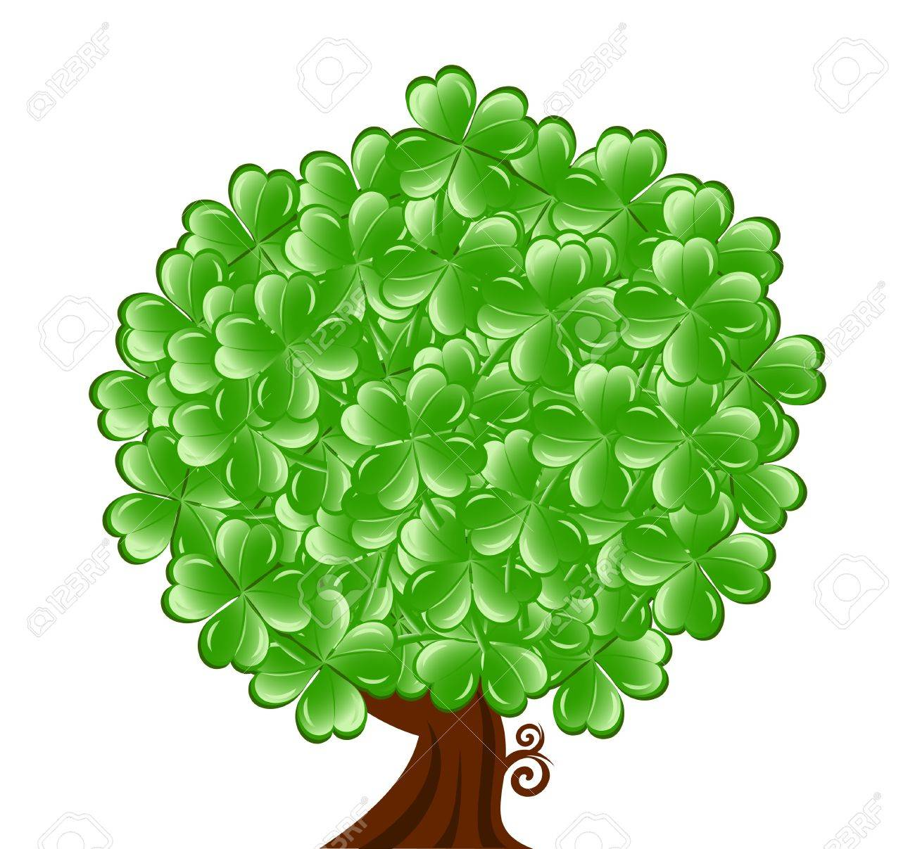 illustration of a  tree for St. Patrick Stock Vector - 12454535