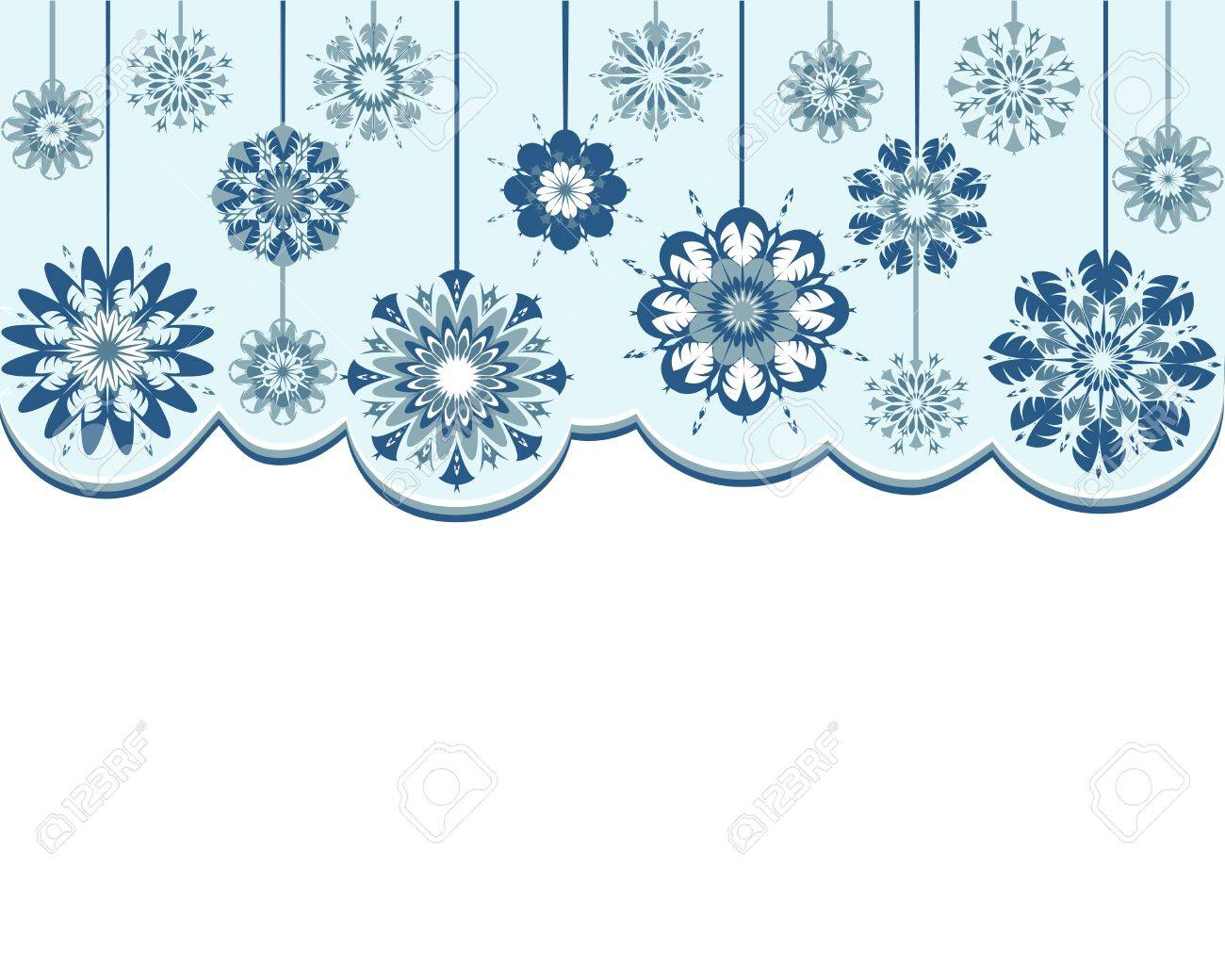 Vector illustration of an abstract snowflakes background Stock Vector - 16245771