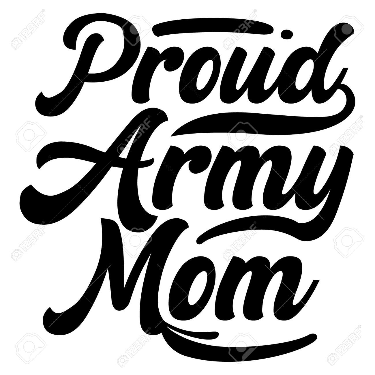proud army mom, celebration mother day design - 166461638