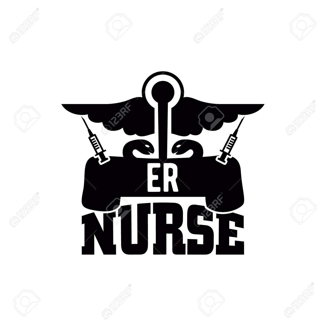 er nurse, awesome nurse design, family nurse saying, motivational and inspirational quotes, vector illustration - 173411719