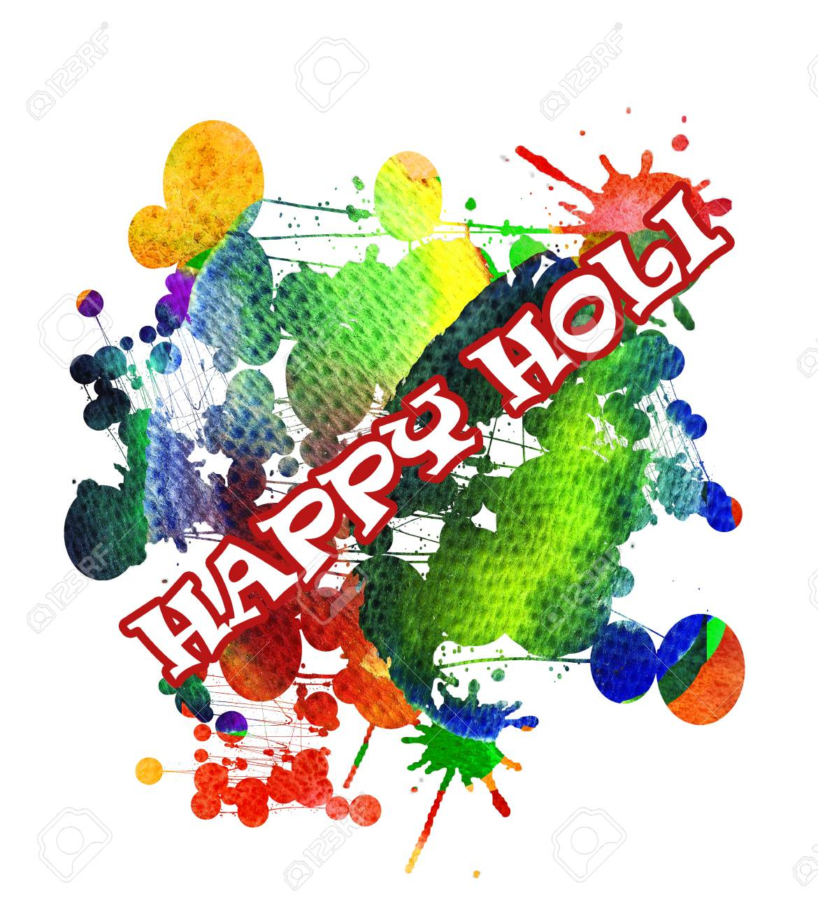 Happy holi greeting card colorful watercolor background stock happy holi greeting card colorful watercolor background stock photo 72855967 m4hsunfo
