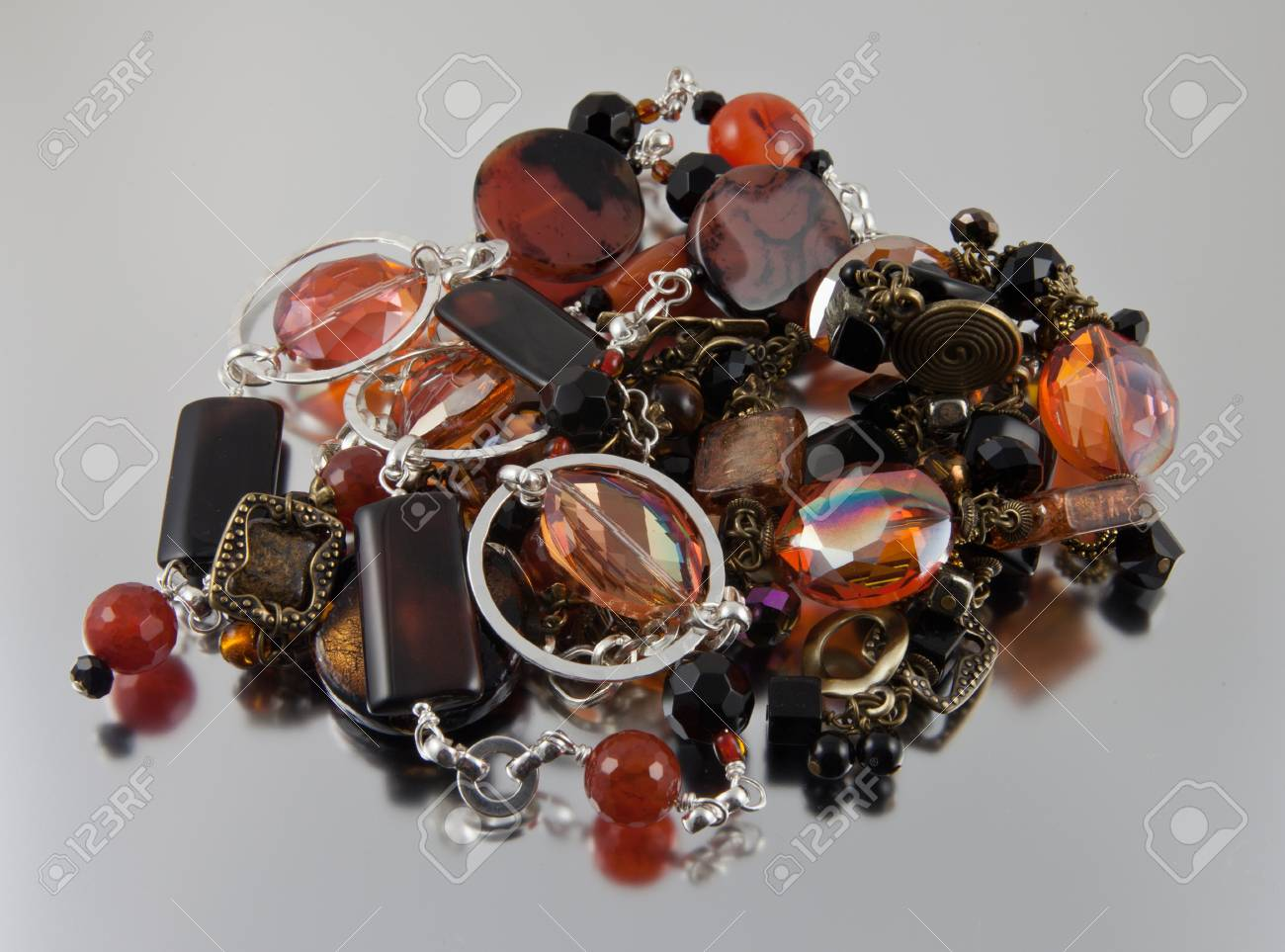 Semi precious gems in a jewelry pile Stock Photo - 13678206
