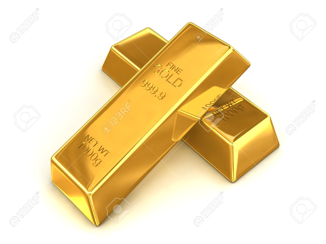 Fine Gold Bars a Pair of Fine
