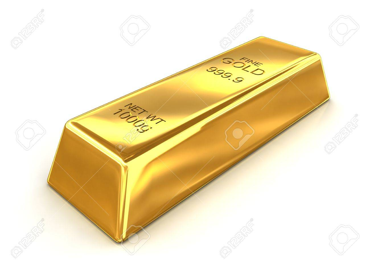 a Bar of Fine Gold With a Net