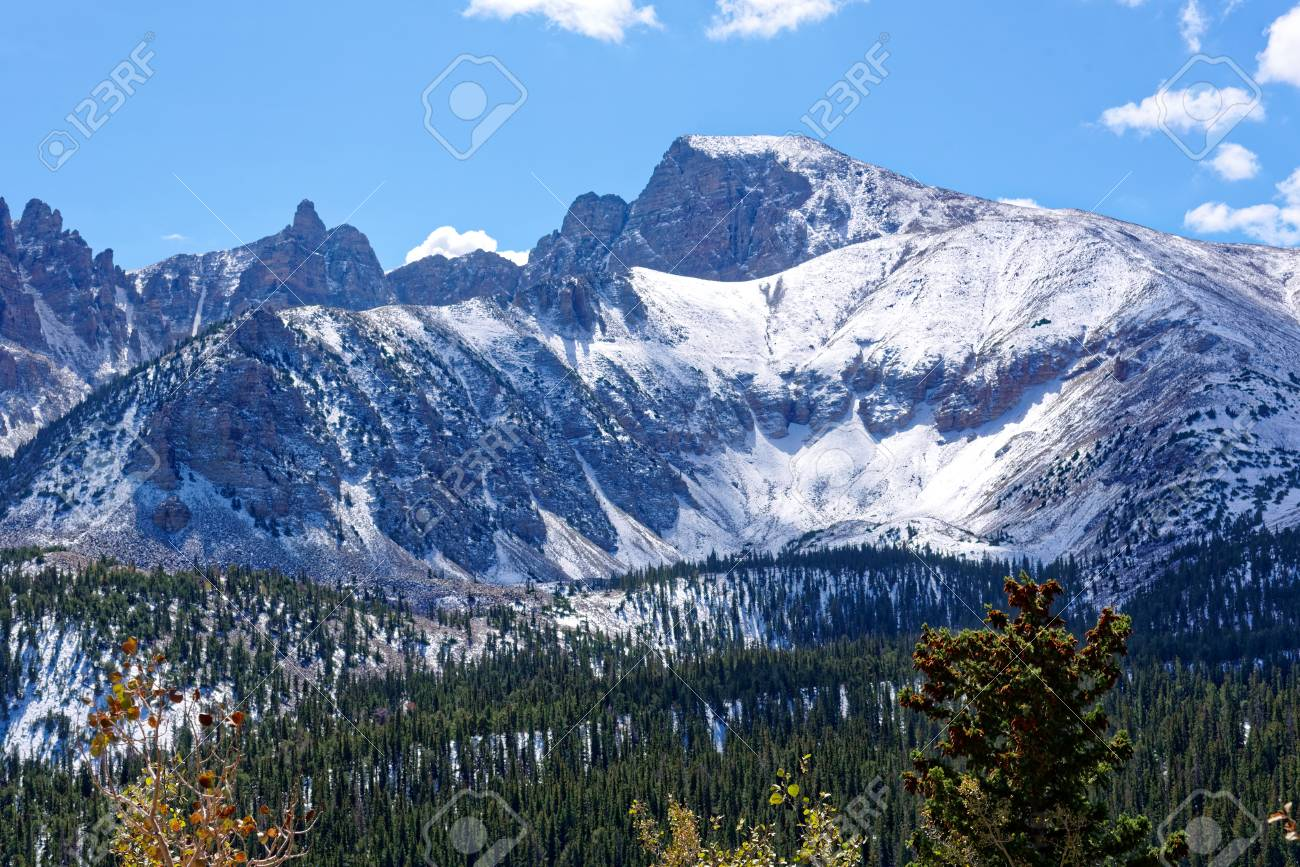 Wheeler Peak In Great Basin National Park Baker Nevada Stock Photo Picture And Royalty Free Image Image 89423579
