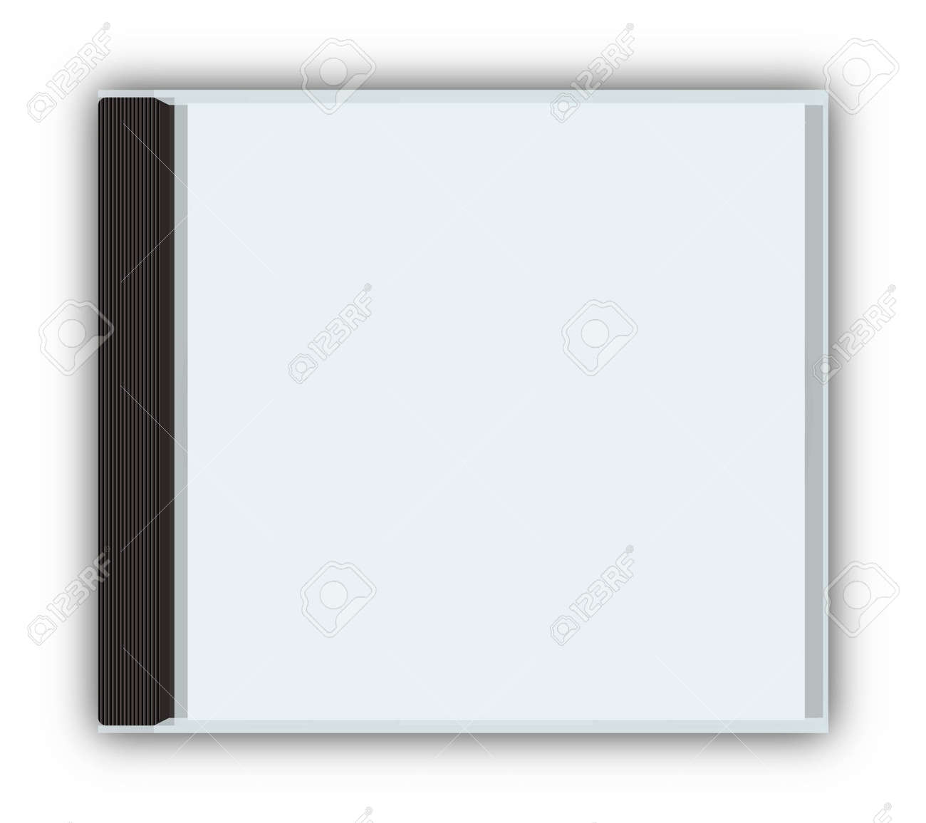 cd dvd closed jewel case template with paths stock photo picture