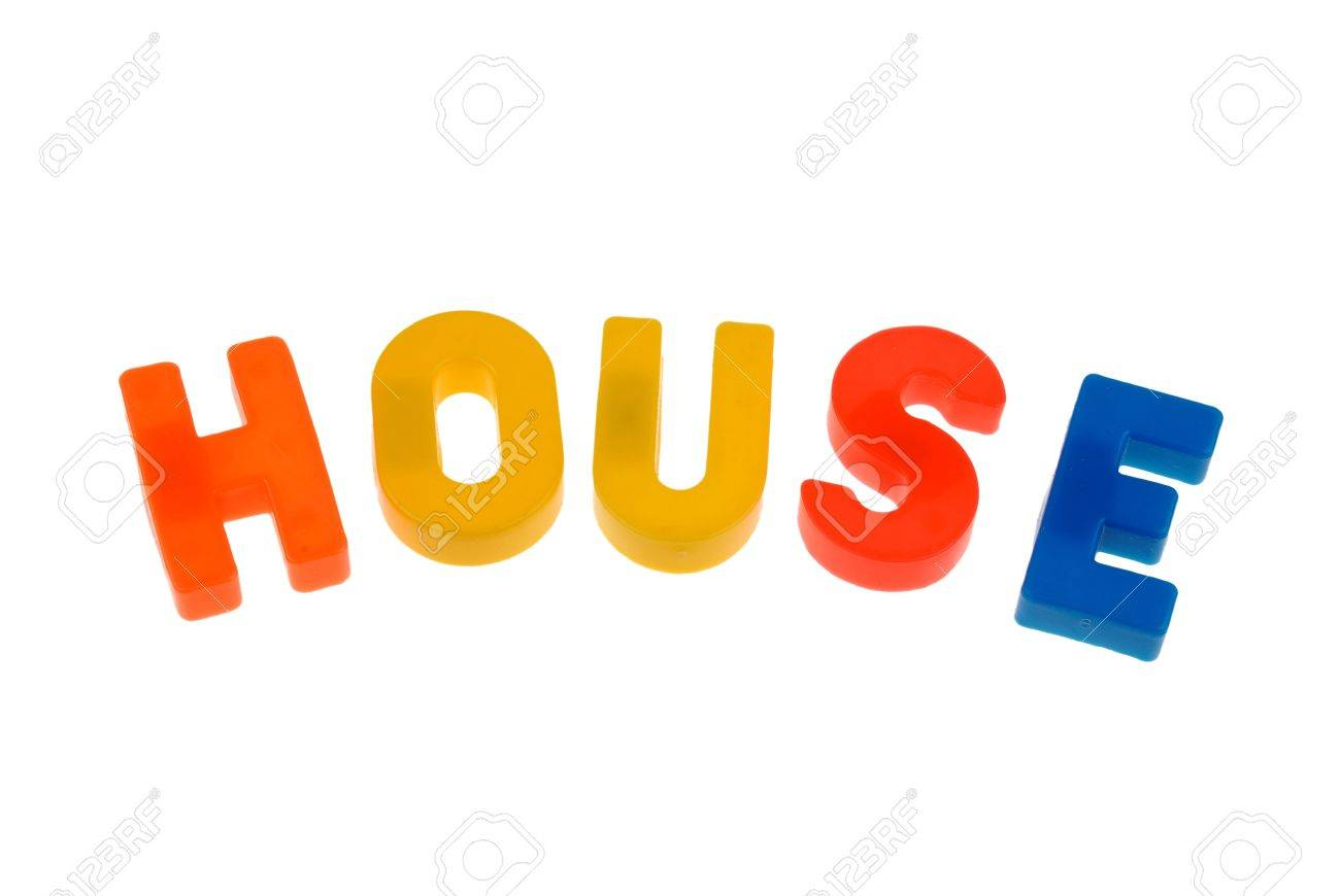 Toy Magnetic Letters That Spell The Word House Stock Photo ...