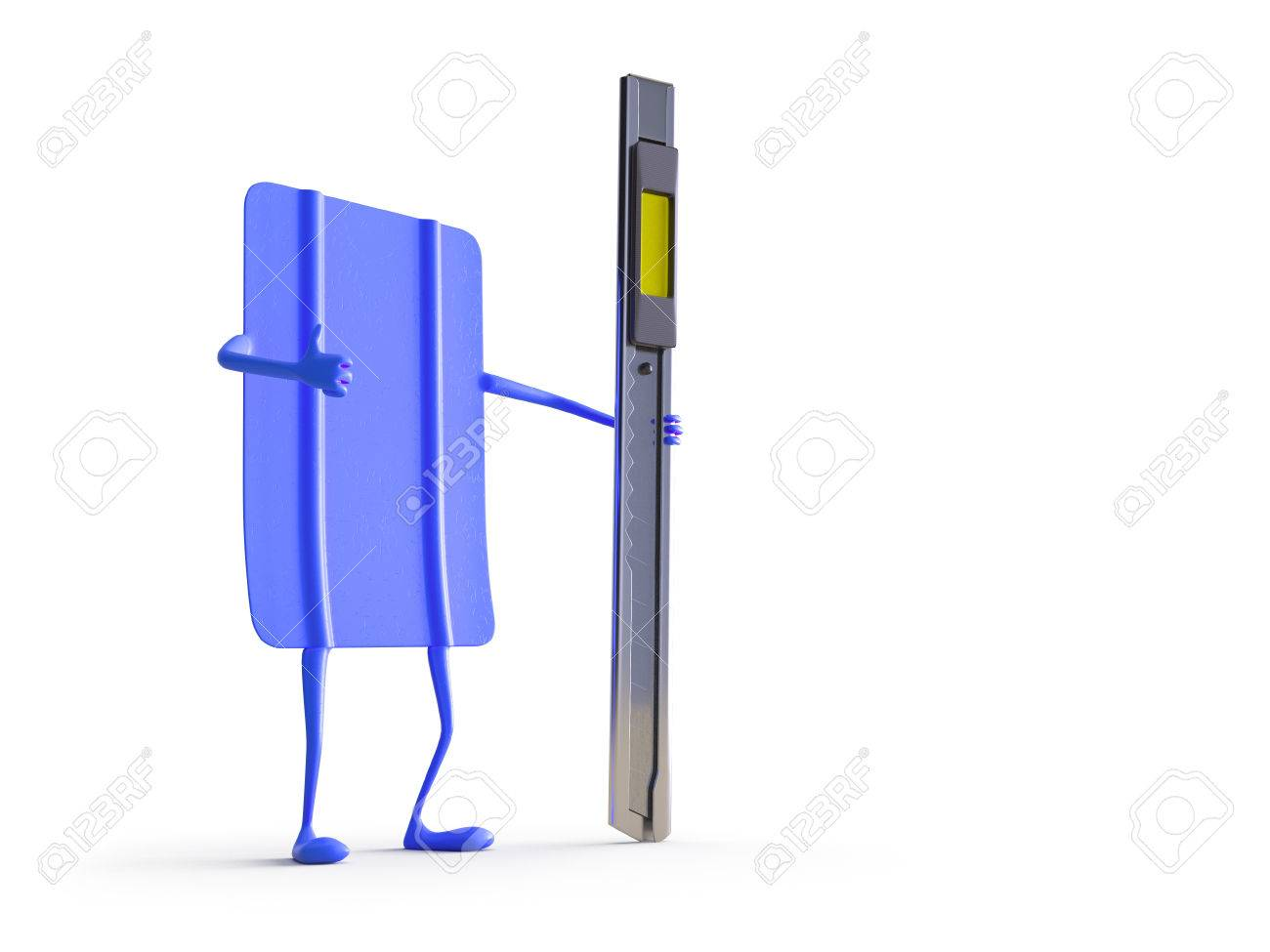 Car wrapping squeegee character. High quality  photo realistic render Standard-Bild - 54359891