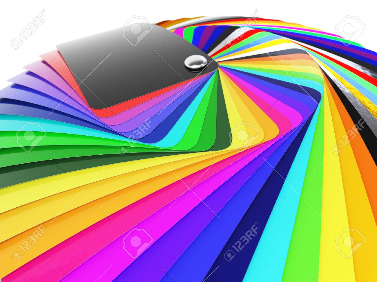 Car Wrapping Film Color Palette Swatch 3d Render Stock Photo