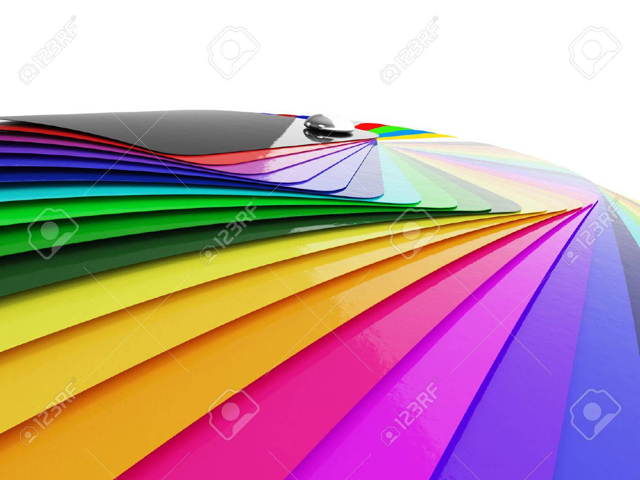 Car wrapping film color palette swatch. 3d render Standard-Bild - 54499905