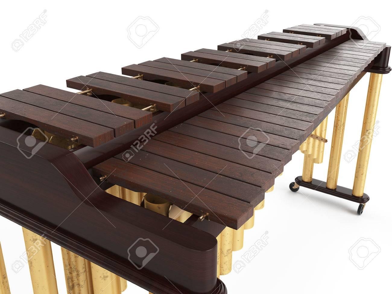 Marimba isolated on white background 3d rendering Standard-Bild - 58930726