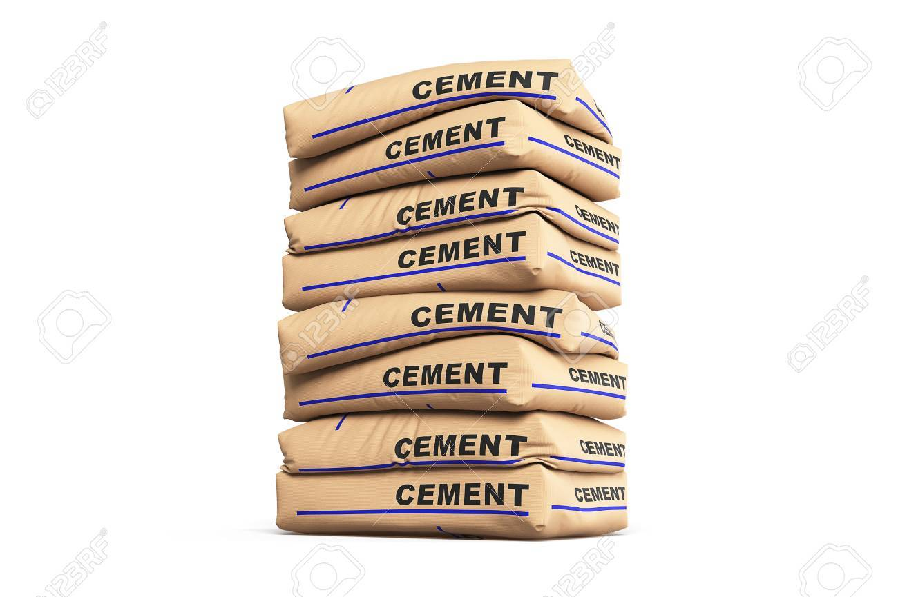 Cement Bags Paper Sacks Isolated On White Background Stock Photo Picture And Royalty Free Image Image 62614703