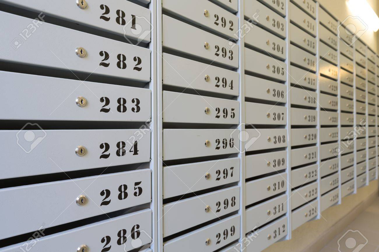 Mailboxes In Apartment Buildings Stock Photo Picture And Royalty