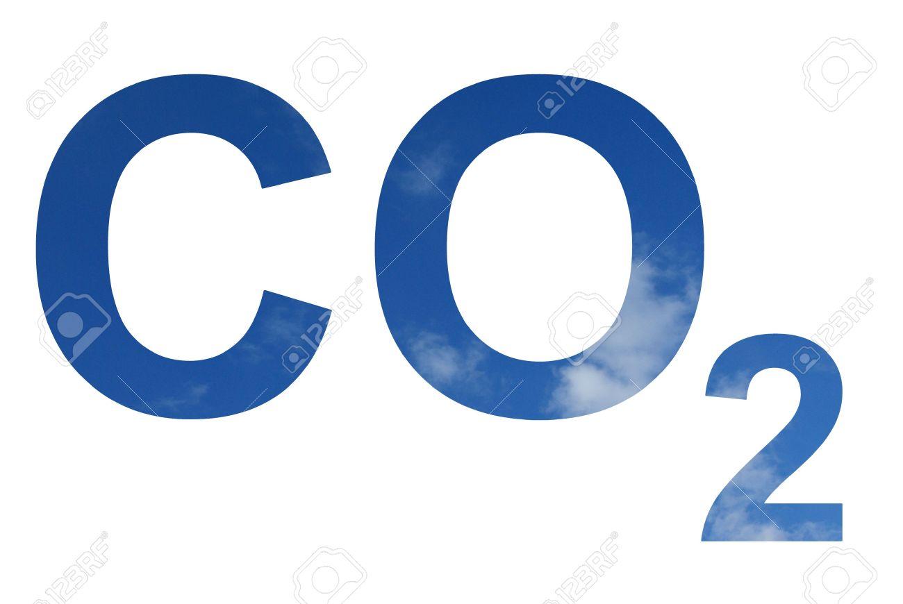 青空の co2 記号のパターンです ロイヤリティーフリーフォト