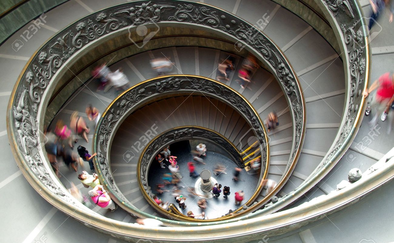 Funny image of a spiral staircase at the Vatican museum Stock Photo - 8043852