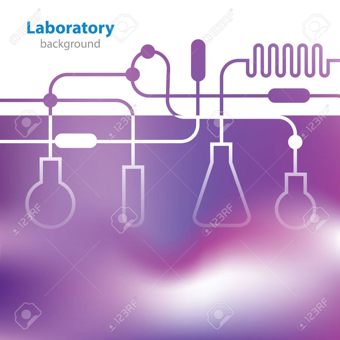 Abstract purple medical laboratory background - 25327055