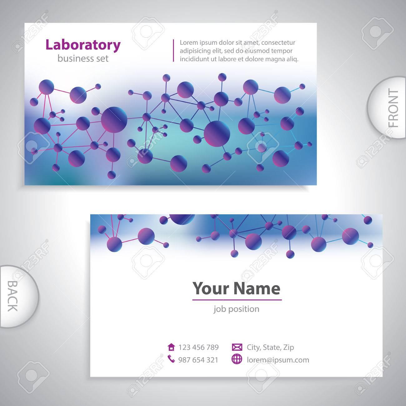 Universal Medicale Carte De Visite Laboratoire Bleu Violet Clip