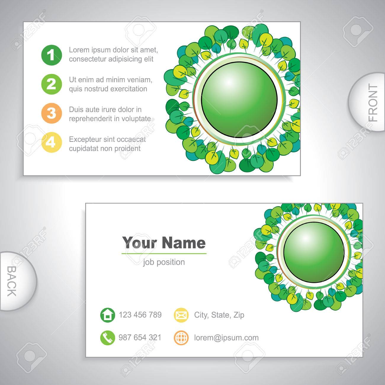 Universal Nature Business Card. Royalty Free Cliparts, Vectors, And ...