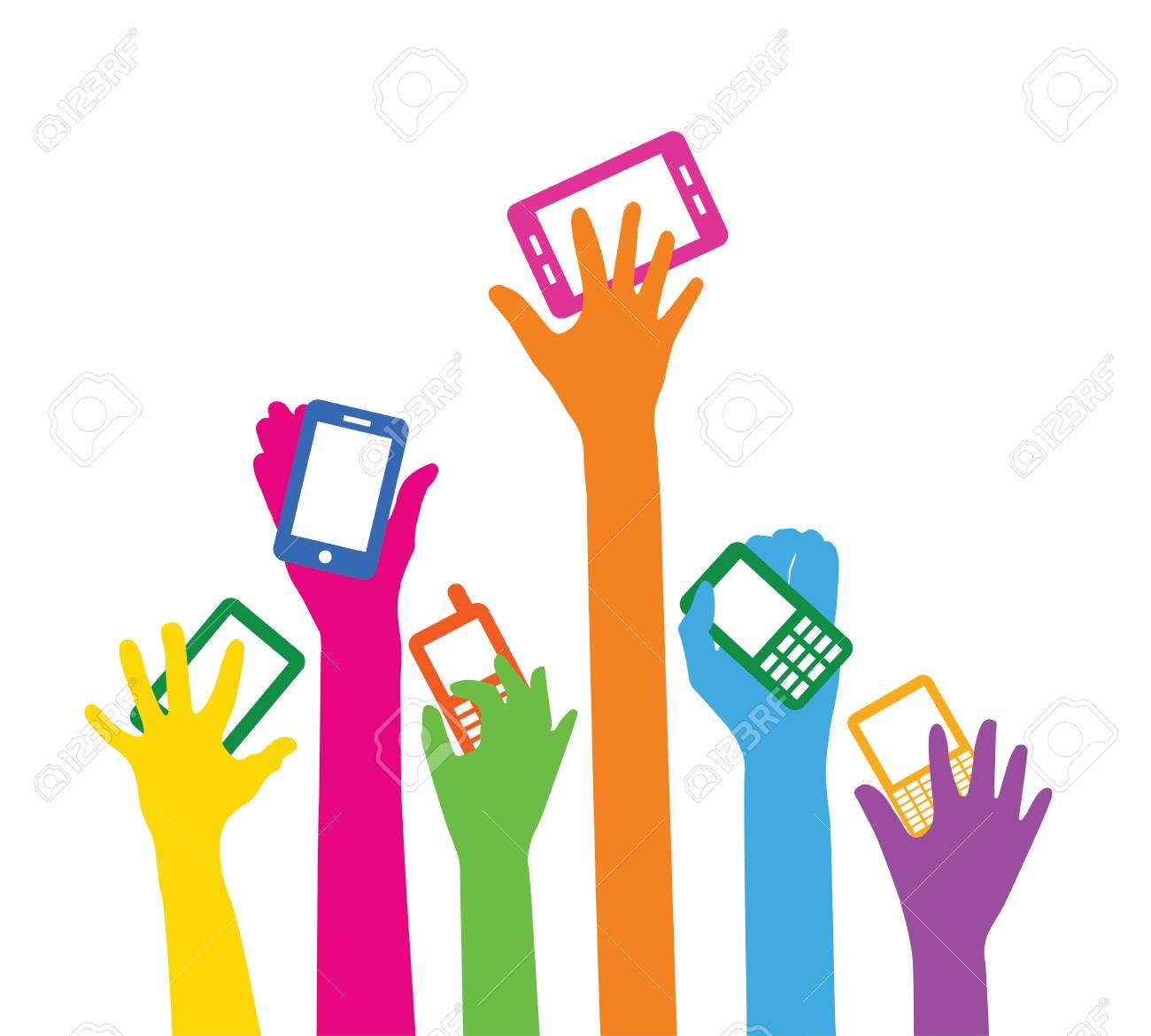 Team with smart phones - 29854762