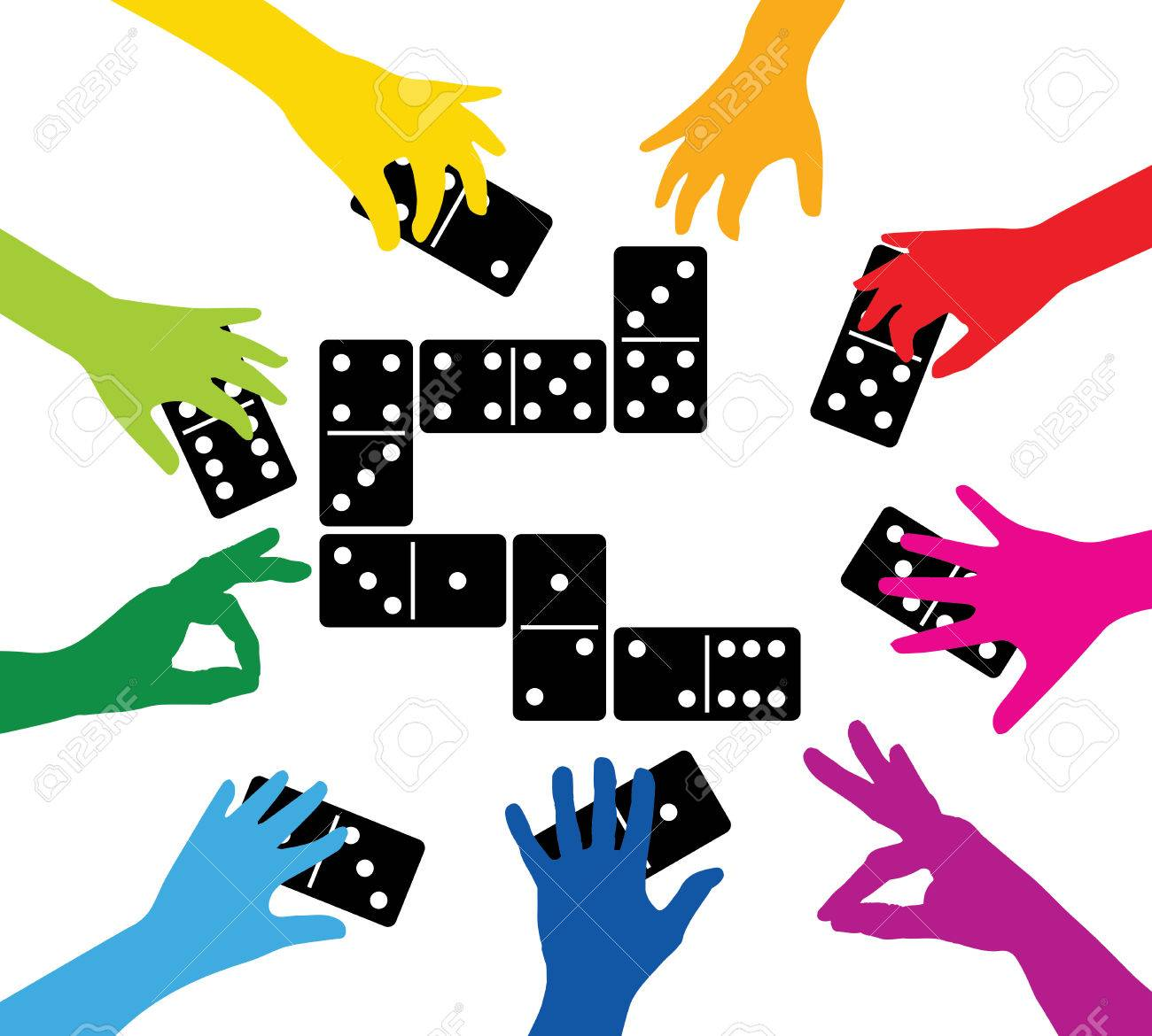 team playing with dominoes - 29854798