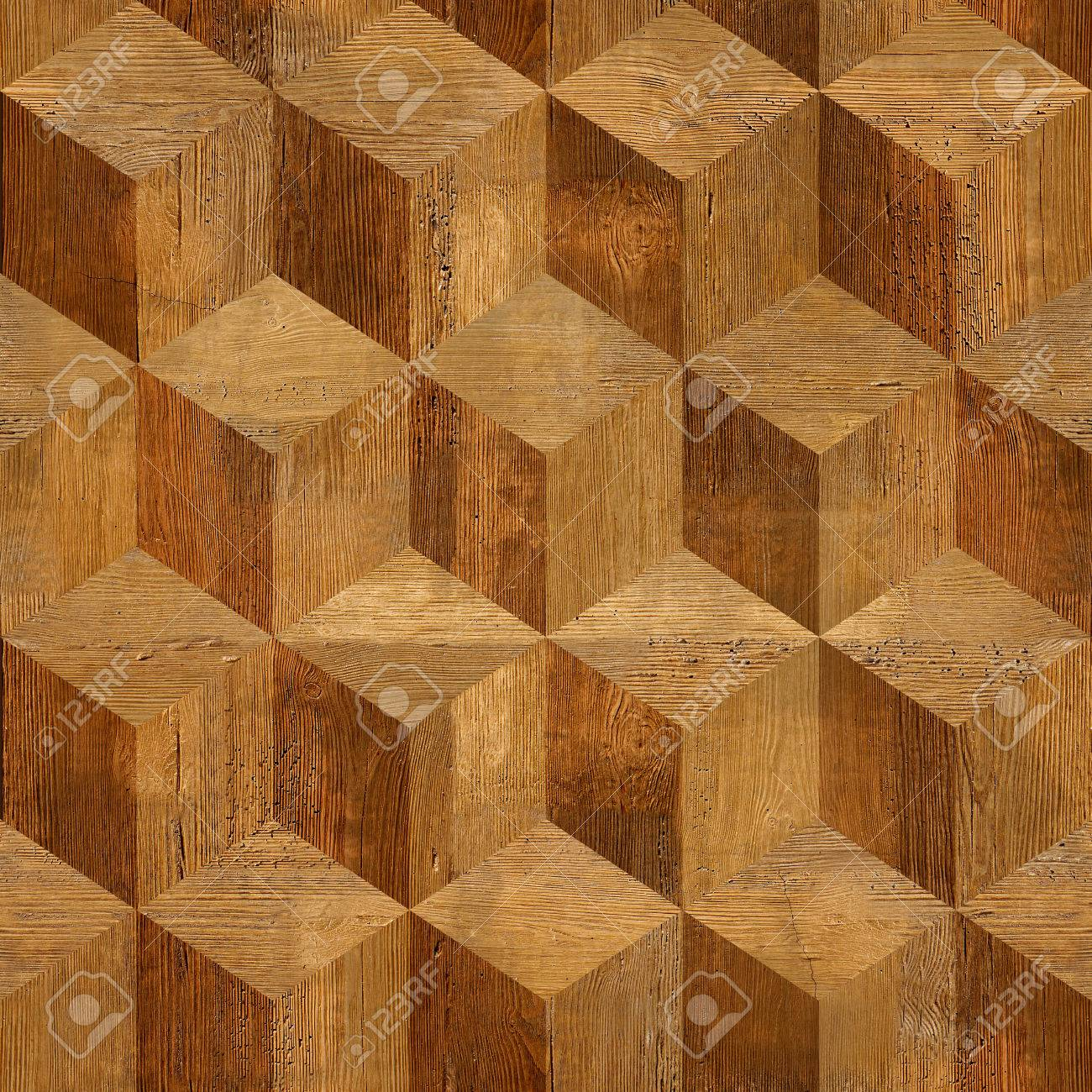 Wooden parquet blocks rosewood stacked for seamless background - 32957476