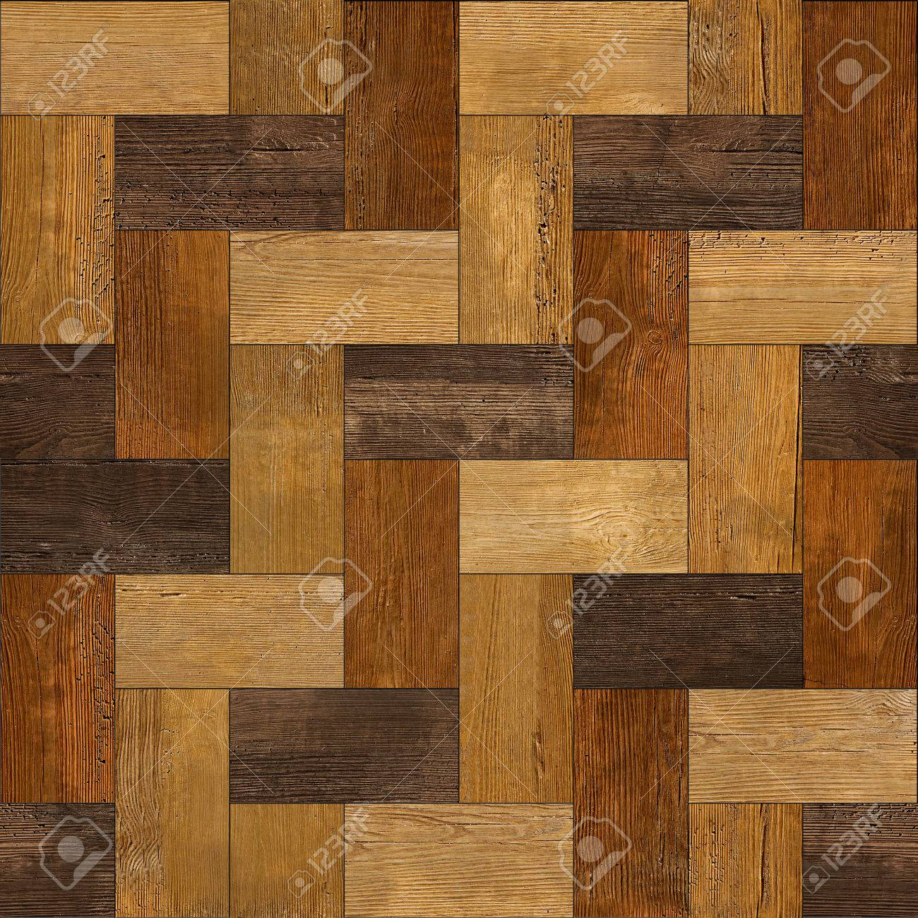 Wooden rectangular parquet stacked for seamless background - 33836945