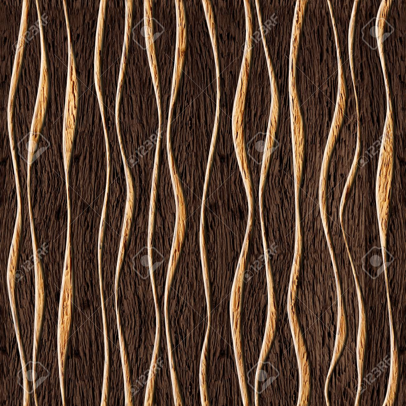 Seamless abstract wooden pattern, waves - 34316675