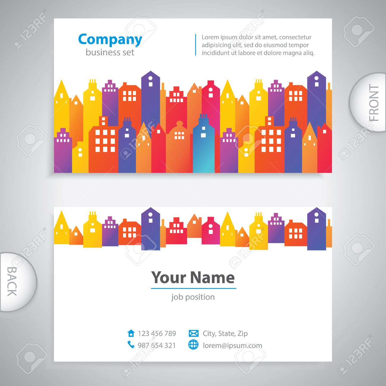 Business Card - Abstract City Buildings - Company Presentations ...