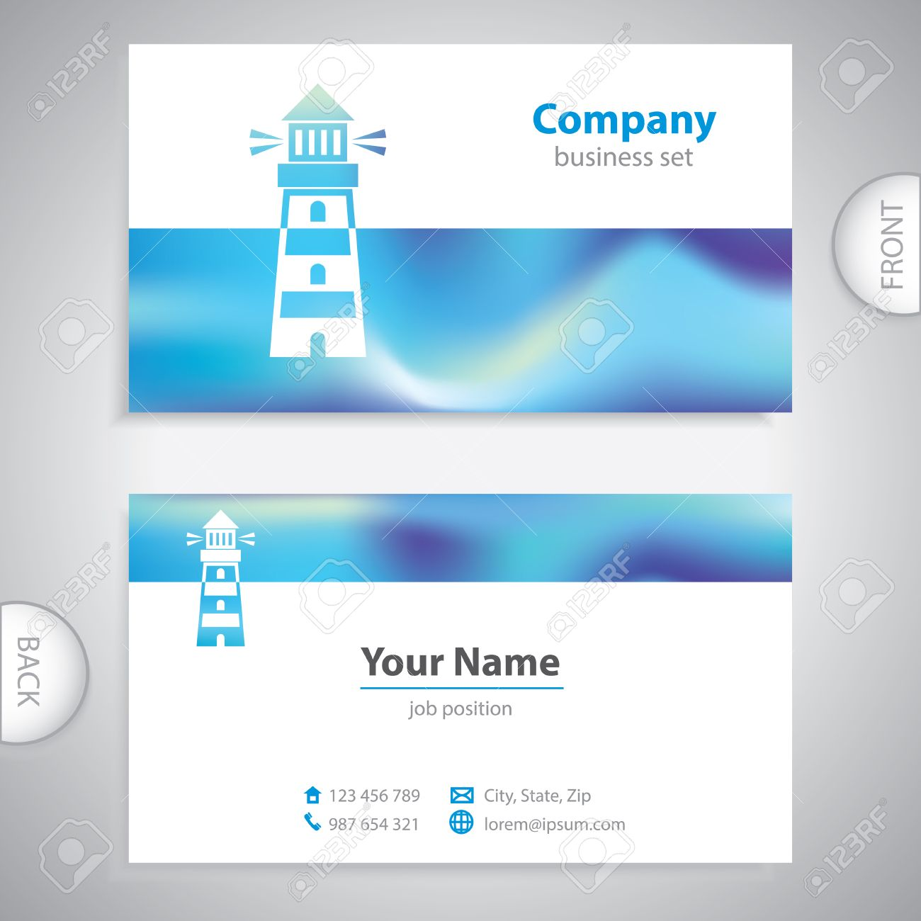 Business card lighthouse icon signaling signs symbol sea business card lighthouse icon signaling signs symbol sea company presentations stock vector colourmoves